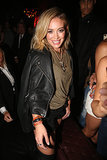 "Hilary Duff grinned at her ""Chasing the Sun"" release party in NYC on Friday."