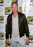 Eric Dane donned a leather jacket on the red carpet at TNT's The Last Ship event on Thursday.