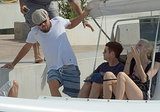 Leo, Kevin, and Toni took a boat ride together on Saturday.