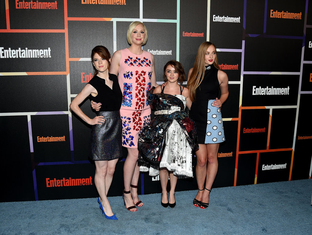 On Saturday, the ladies of Game of Thrones — Rose Leslie, Gwendoline Christie, Maisie Williams, and Sophie Turner — epitomized glamour at Entertainment Weekly's bash.