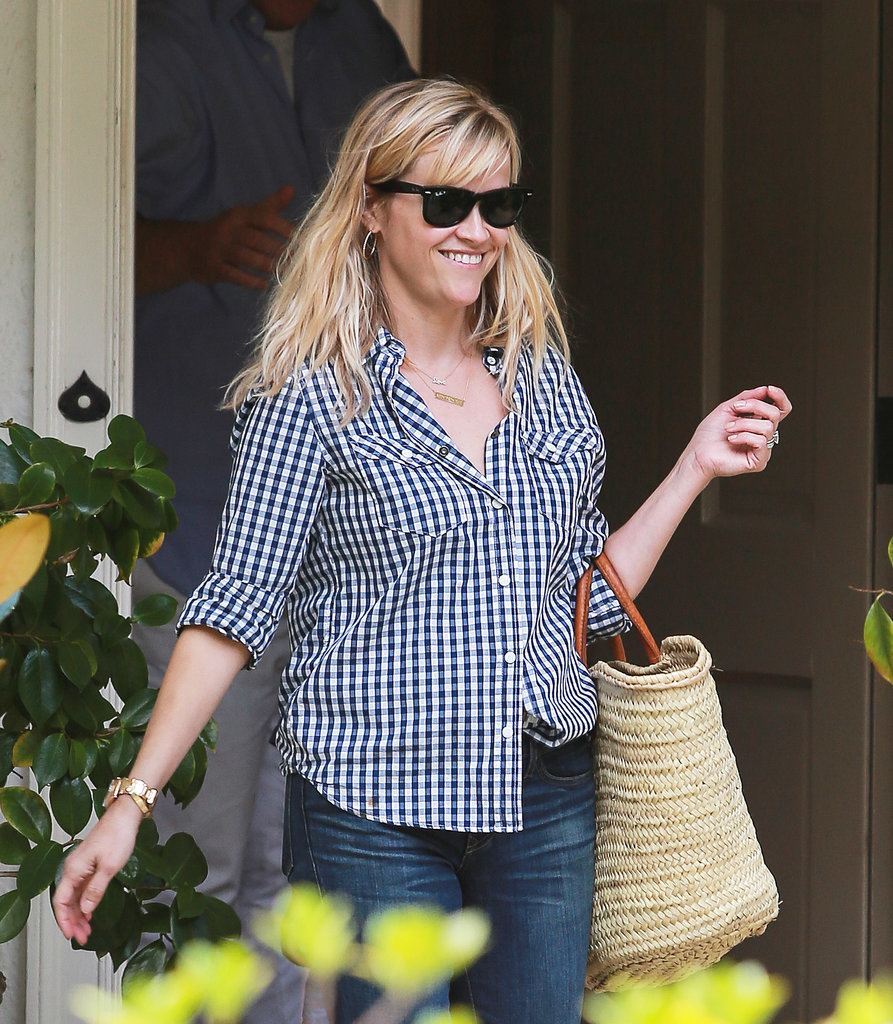 Reese Witherspoon smiled out in LA on Sunday.