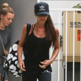 Victoria Beckham Wearing Workout Clothes at SoulCycle