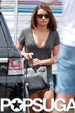 Lea Michele arrived on the set of Sons of Anarchy.