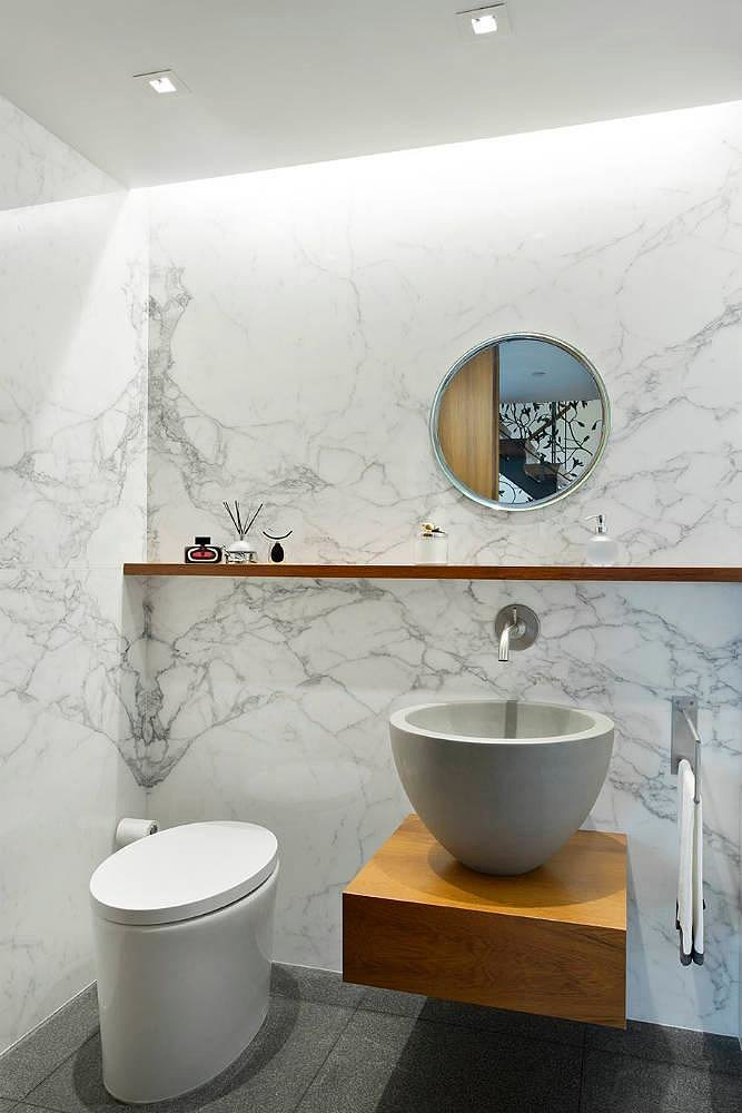 A smaller but equally elegant bathroom. Source: Town Real Estate