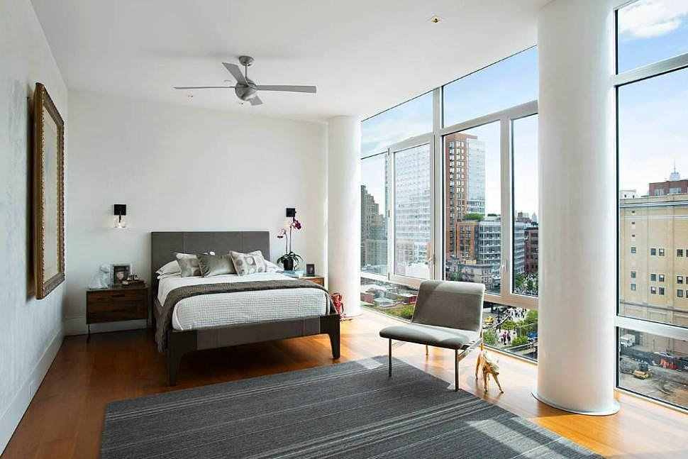 Another bedroom includes similarly impressive views. Source: Town Real Estate