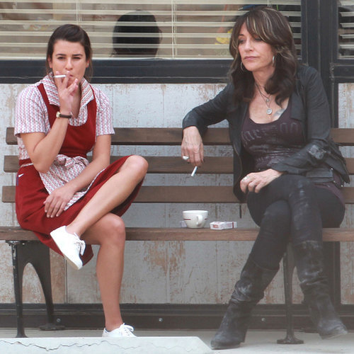 Lea Michele on the Sons of Anarchy Set Pictures