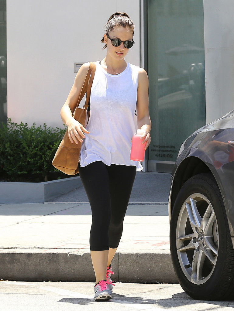 On Wednesday, Minka Kelly hit the gym in LA.