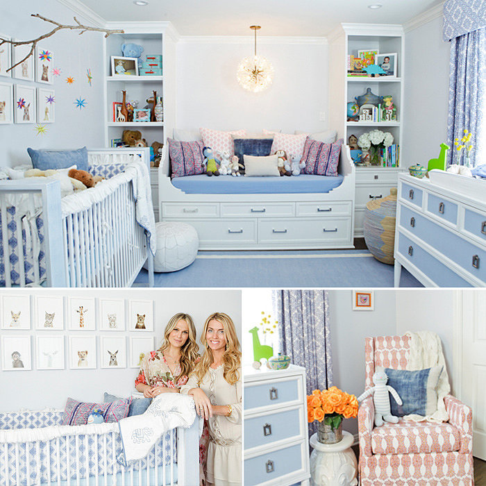 Molly Sims's Eclectic Blue Room For Baby Brooks