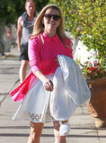 Reese Witherspoon looked pretty in pink while running errands in LA on Thursday.
