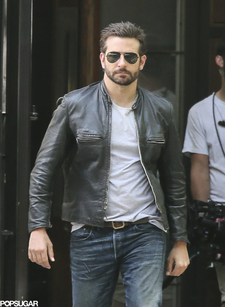 Bradley Cooper looked rugged on the set of Adam Jones in London on Sunday.