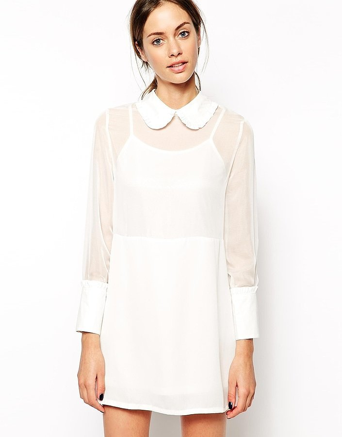 ASOS White Collared Dress