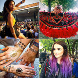 Best Hair Makeup Street Style Fashion At 2014 Lollapalooza