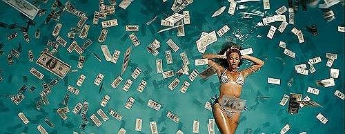 She makes her own money.
