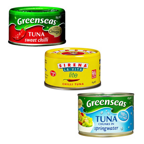 Calories In John West Greenseas Sirena Tuna Cans