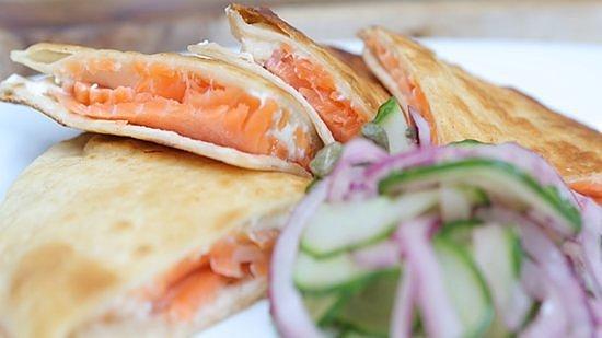 Salmon Quesadilla