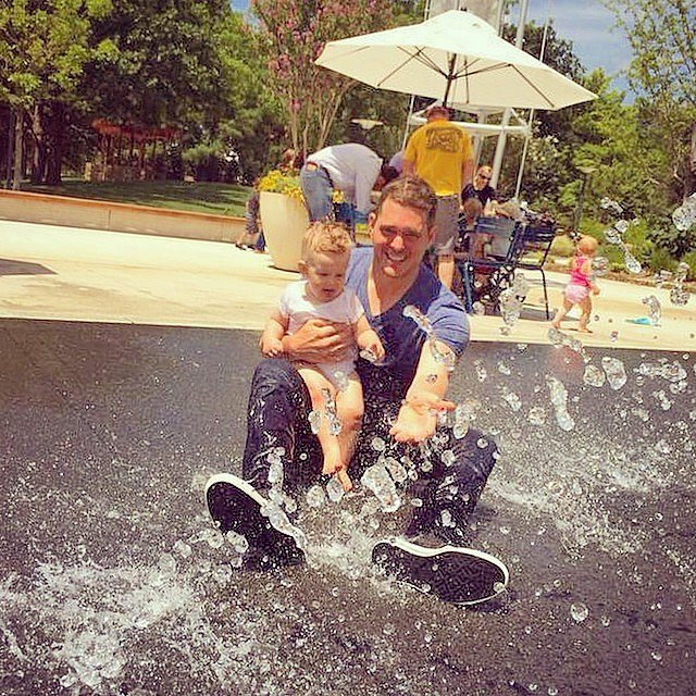 Michael Bublé enjoyed a water park with his son, Noah, in Oklahoma. Source: Instagram user michaelbuble