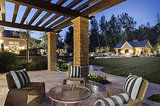The mansion's yard is perfect for outdoor entertaining.  Source: Zillow