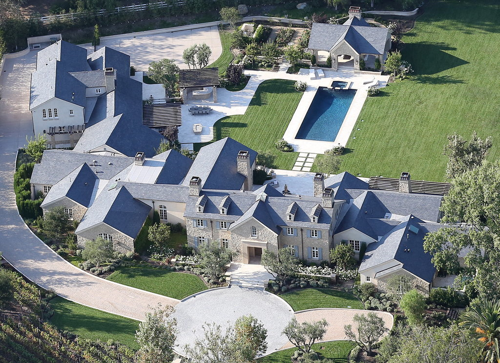 While the estate may not look exceptionally large from the ground level, this bird's-eye view gives a peek into the true size of this gigantic property.
