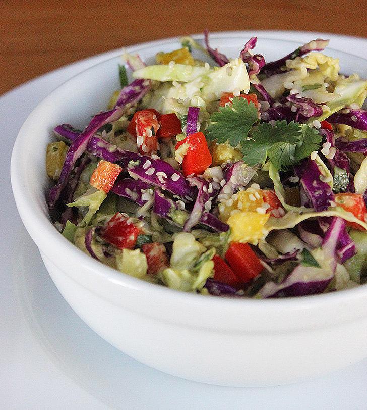 Cabbage-Avocado Slaw