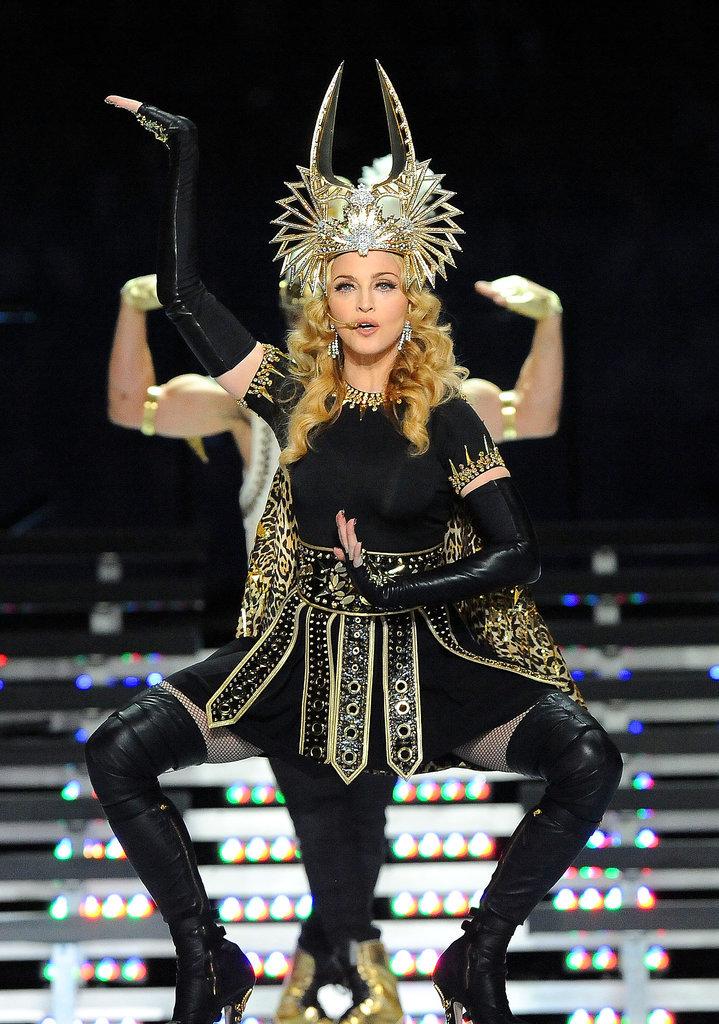 Madonna at the 2012 Super Bowl Halftime Show