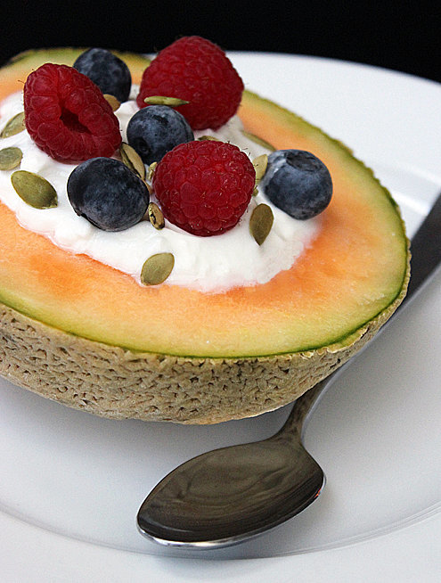 Cantaloupe Yogurt Bowl
