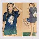 Beyonce Wearing Carter Jersey in Instagram Pictures