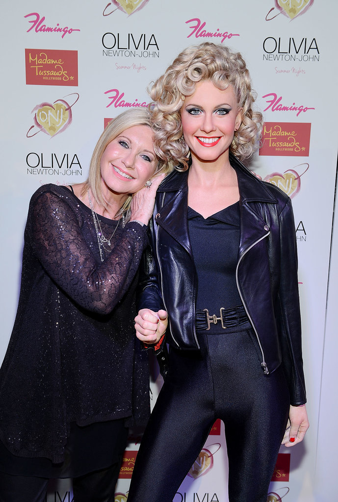 Olivia Newton-John was on hand to reveal her wax figure in Las Vegas in August 2014.