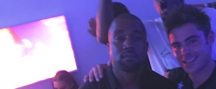 There Is So Much Going On in This Photo of Zac Efron and Kanye West