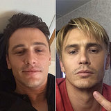Does James look better as a brunet or blond?