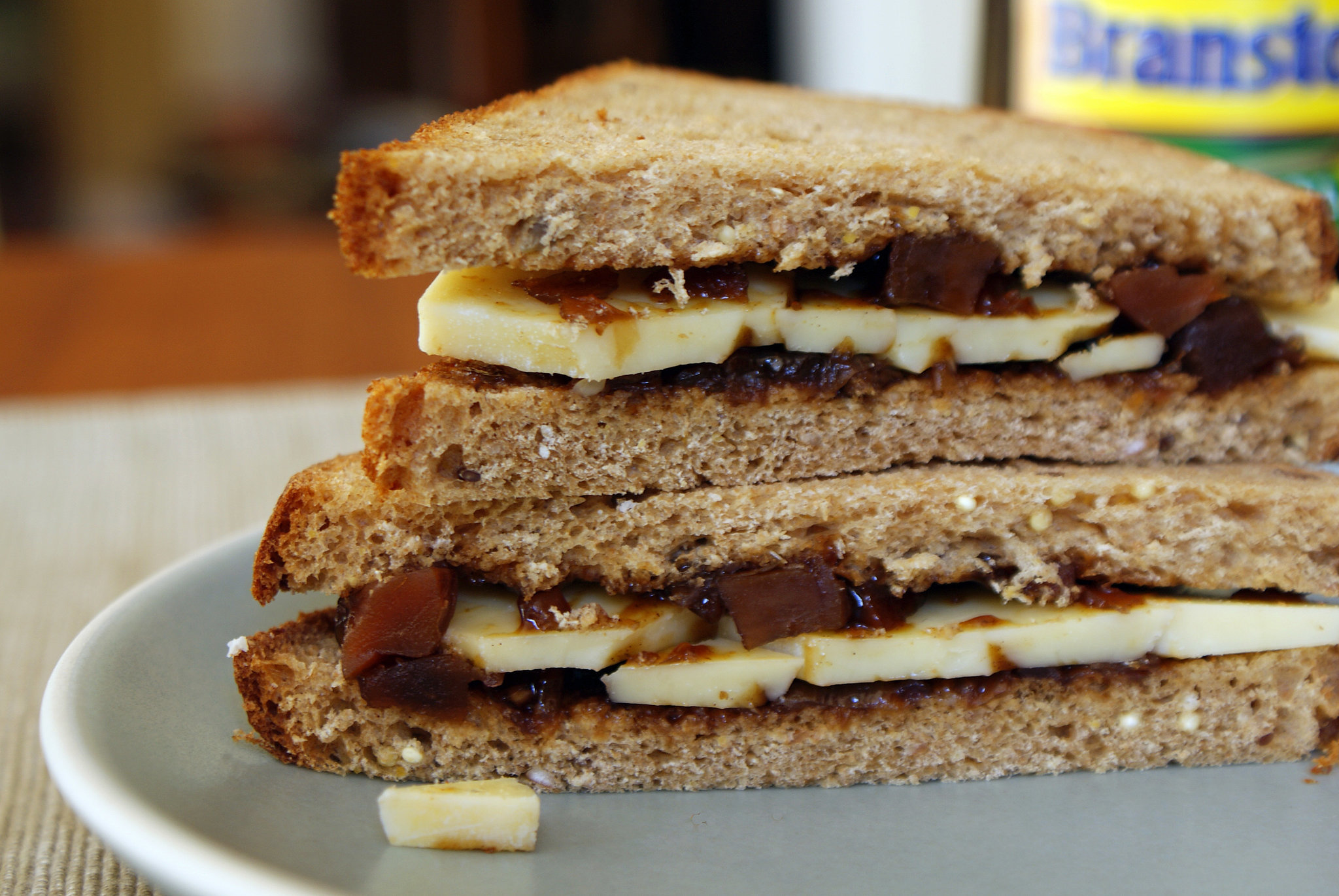 Cheese and Pickle Sandwich