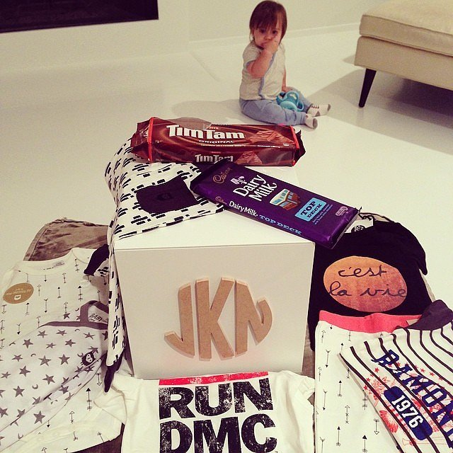 Jaime King's son, James, was surrounded by goodies during their visit to Australia. Source: Instagram user jaime_king