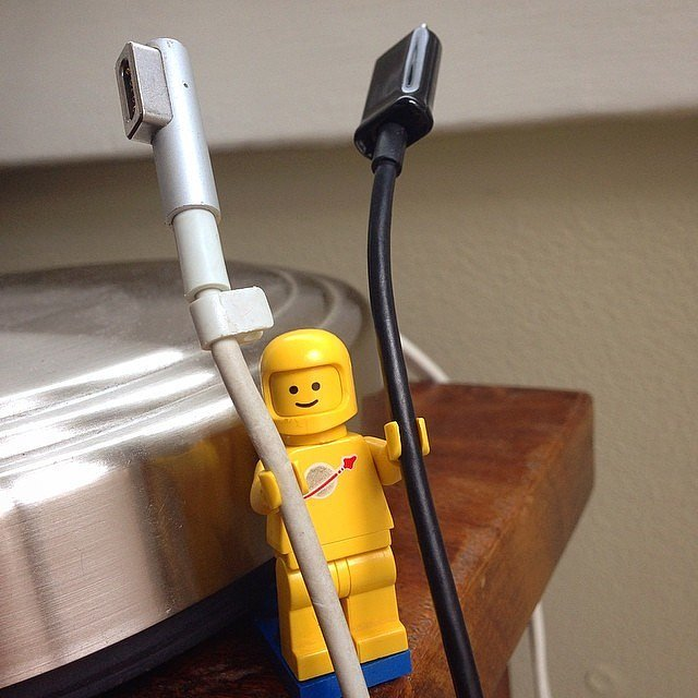 Use Lego Figurines to Hold Your Cords