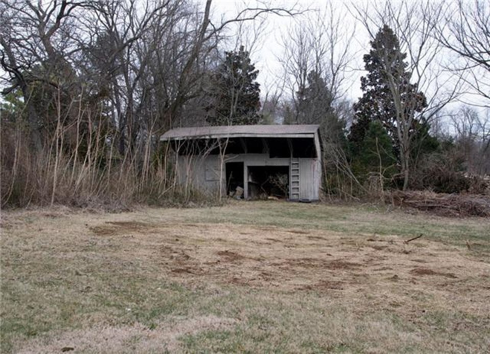 This shed on the property may make a good playhouse for the kids.  Source: Zillow
