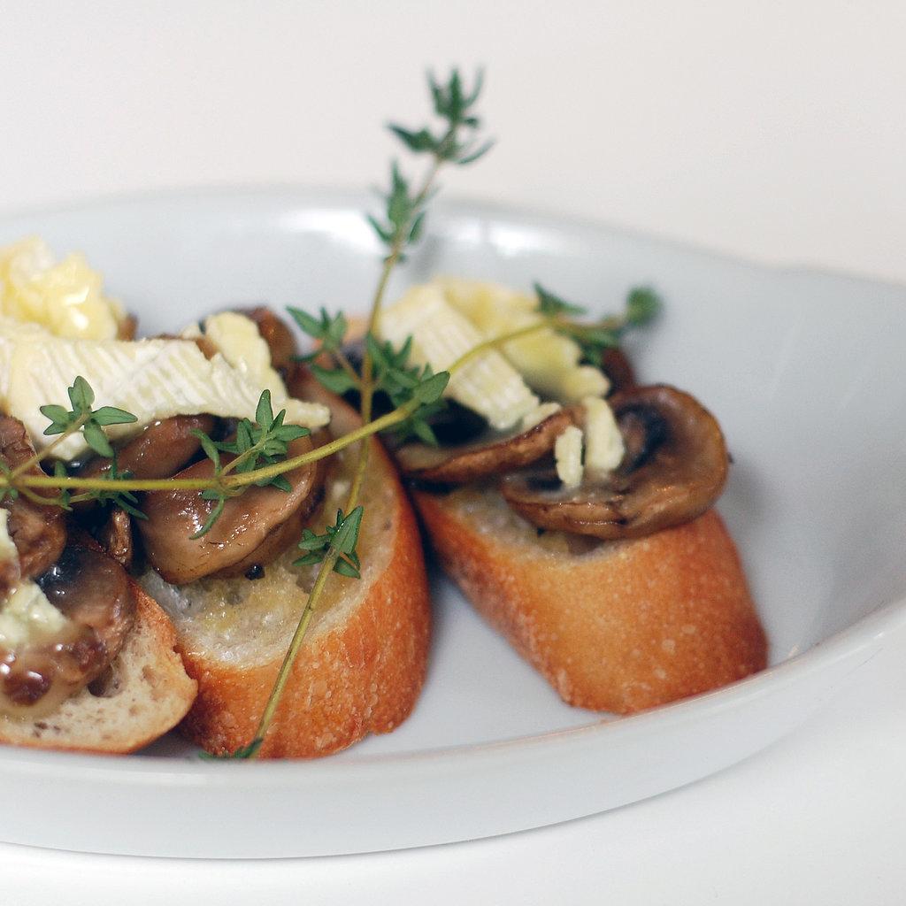 Mushroom and Brie Bruschetta