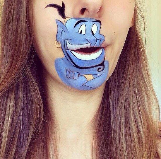 Disney Lips Makeup Artist Cartoon