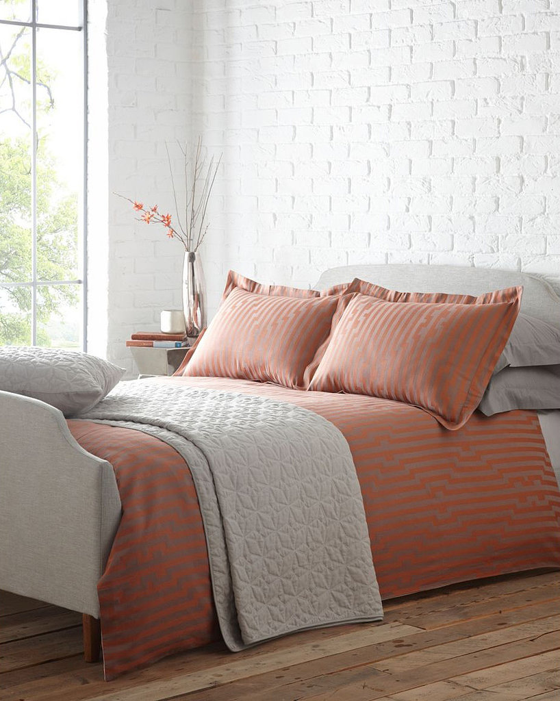 We love how this patterned pumpkin duvet ($150) is subtle enough to become a Fall neutral.