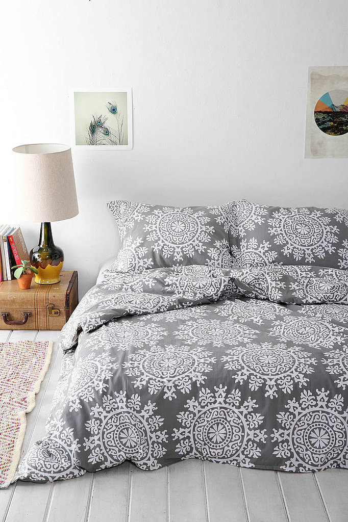 With a pattern that resembles snowflakes, this duvet ($59-$99) works now and will continue to bring style to your space throughout the holidays.