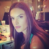 Alessandra Ambrosio showed off a minimal makeup look.  Source: Instagram user alessandraambrosio