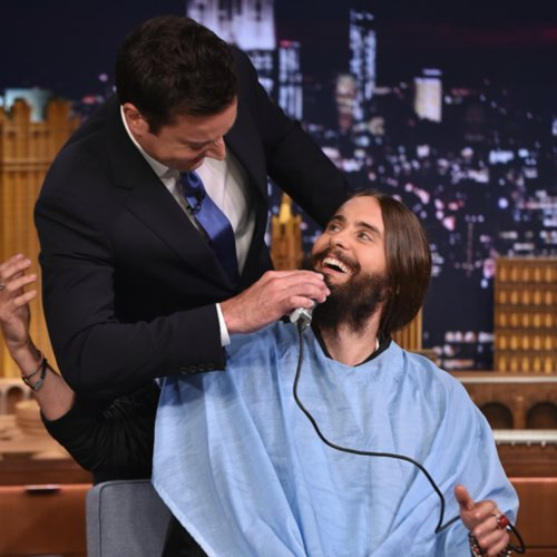 Jared Leto Beard Shave on Jimmy Fallon