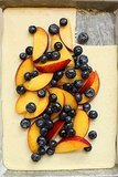 Peach and Blueberry Ricotta Slice