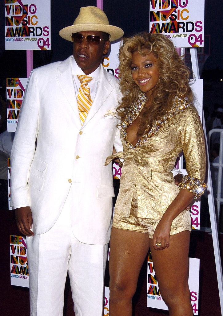 2004: Beyoncé and Jay Z made their red carpet debut as a couple at the VMAs in Miami.