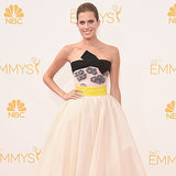 Allison Williams at 2014 Emmy Awards in Giambattista Valli