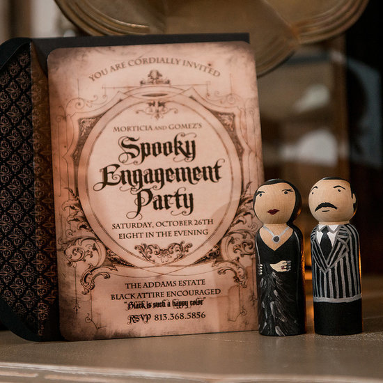 Addams Family Halloween Engagement Party