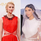 Claire Danes in Kim Kardashian Wedding Dress at Emmys 2014