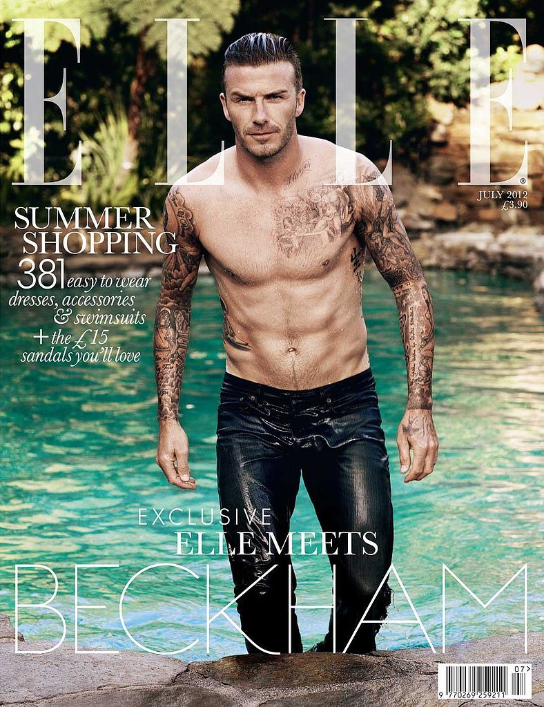 David Beckham For Elle, July 2012