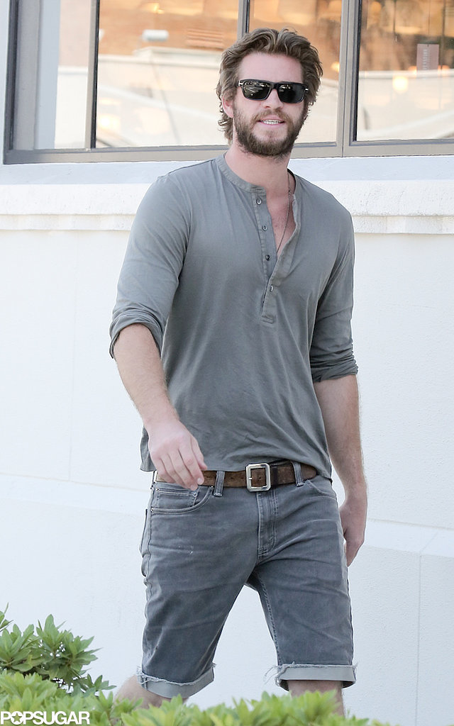Liam Hemsworth smiled during an outing in LA on Thursday.