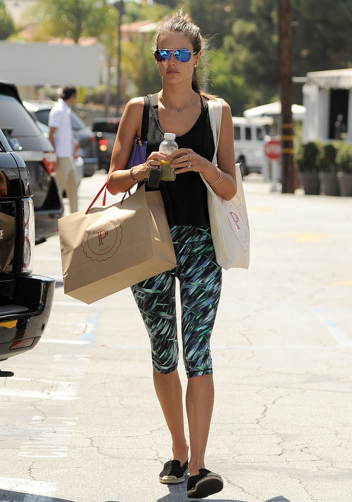 Alessandra Ambrosio went shopping at the Brentwood Country Mart in LA on Saturday.