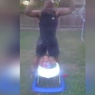 Dad Outraged as 10-Month Old Takes Ice Bucket Challenge With Her Grandfather
