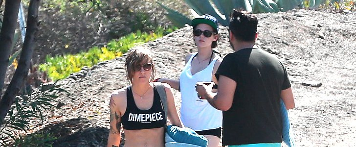 Kristen Stewart Trades Her Message Tees For Tiny Shorts