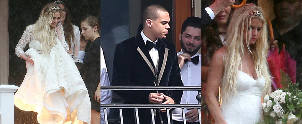 Ashlee Simpson and Evan Ross Didn't Let Rain Ruin Their Wedding — See the Photos!